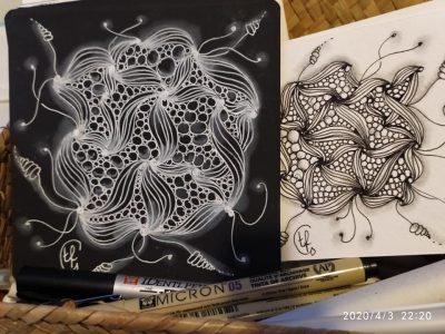 Corso di Zentangle Black esempio