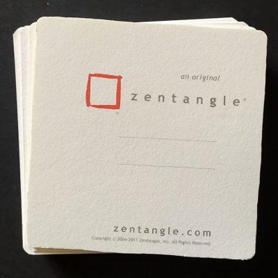 Kit 10 pezzi Tesserine ufficiali Zentangle con logo