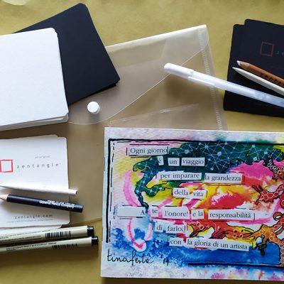 Kit Zentangle Bn Zentangle Inspired Art 45p Tina Festa