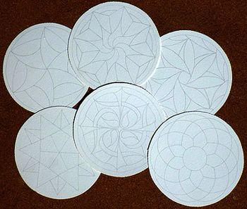 Tesserine ufficiali Zentangle con logo per realizzare ZENDALA prestringati personalizzati (carta Fabriano Tiepolo) SINGOLO PEZZO